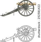 Antique Field Artillery Canon