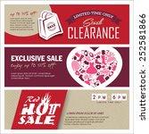sale banners design | Shutterstock .eps vector #252581866