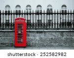 red telephone box in street... | Shutterstock . vector #252582982