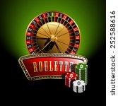 roulette banner | Shutterstock .eps vector #252588616