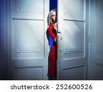 mysterious blonde beauty | Shutterstock . vector #252600526