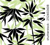 floral seamless pattern. bamboo ... | Shutterstock .eps vector #252602608