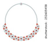 necklace with flowers of... | Shutterstock .eps vector #252605458