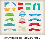 set of ribbons.ribbon banner... | Shutterstock .eps vector #252607852