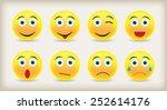 emoticons icon set. emoticon... | Shutterstock .eps vector #252614176