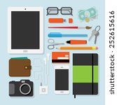 flat design style modern vector ... | Shutterstock .eps vector #252615616