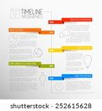 vector infographic timeline... | Shutterstock .eps vector #252615628