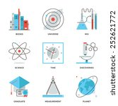 thin line icons of discovery... | Shutterstock .eps vector #252621772