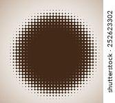 abstract brown halftone vector... | Shutterstock .eps vector #252623302