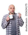 young sick man infected by...   Shutterstock . vector #252624175