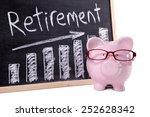 retirement plan   pink piggy... | Shutterstock . vector #252628342