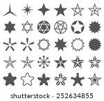 stars vector shapes set. ... | Shutterstock .eps vector #252634855