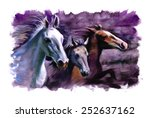 3 Horses Purple Speed Racing...