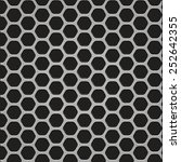 mesh texture on carbon fiber... | Shutterstock . vector #252642355