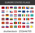 flag of europe states vector set | Shutterstock .eps vector #252646705