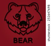 head of brown bear logo | Shutterstock .eps vector #252647698