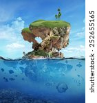tropical island  under and...   Shutterstock . vector #252655165