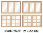 vector of wood window and glass ... | Shutterstock .eps vector #252656182