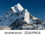 beautiful view of mount Ama Dablam - way to Everest base camp - Nepal