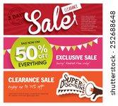 sale banners design | Shutterstock .eps vector #252688648