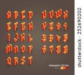 3d vector pixel alphabet and... | Shutterstock .eps vector #252690202