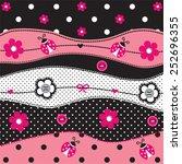 Childish Pattern With Ladybug...