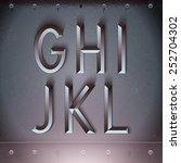 vector metal embossed font from ... | Shutterstock .eps vector #252704302
