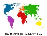 political map of the world.... | Shutterstock .eps vector #252704602