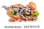 fresh fish and other seafood... | Shutterstock . vector #252707275