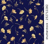 seamless floral pattern with... | Shutterstock . vector #252712282