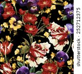 seamless floral pattern with... | Shutterstock . vector #252712375