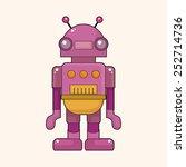 robot theme elements vector eps | Shutterstock .eps vector #252714736