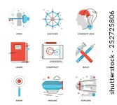thin line icons of conceptual... | Shutterstock .eps vector #252725806
