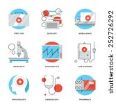 thin line icons of medical... | Shutterstock .eps vector #252726292