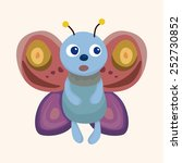 butterfly theme elements vector ... | Shutterstock .eps vector #252730852