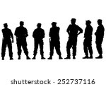 people of special police force... | Shutterstock .eps vector #252737116