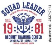 scuba training center... | Shutterstock .eps vector #252747448
