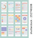 smartphone infographic  ui flat ...