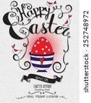 happy easter   vintage...   Shutterstock .eps vector #252748972