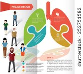 lung puzzle info graphic design ... | Shutterstock .eps vector #252751582