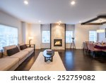 spacious bright living room and ... | Shutterstock . vector #252759082