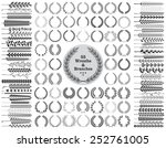 set of 55 wreaths and branches. ... | Shutterstock .eps vector #252761005