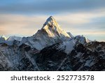 Evening View Of Ama Dablam On...