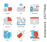 thin line icons of business... | Shutterstock .eps vector #252775666