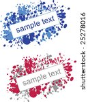 splatter paint effect... | Shutterstock .eps vector #25278016