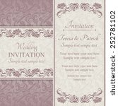 baroque wedding invitation card ... | Shutterstock .eps vector #252781102