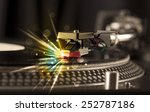 music player playing vinyl with ... | Shutterstock . vector #252787186