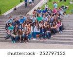 square louise michel  paris  ... | Shutterstock . vector #252797122