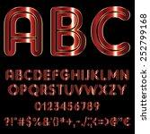 decorative font   red metallic... | Shutterstock .eps vector #252799168