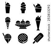 frozen treats icons | Shutterstock .eps vector #252813292